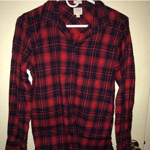 J Crew Boy Fit Flannel Shirt